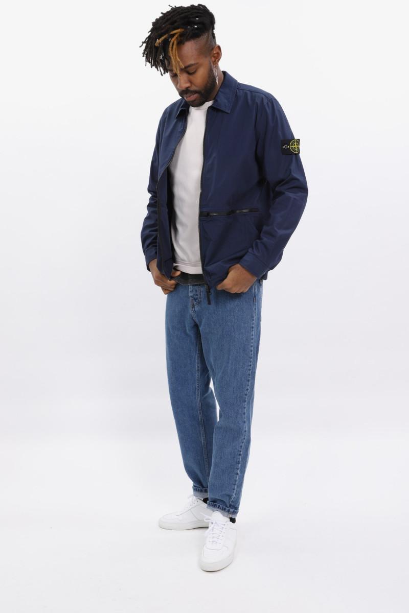 12307 ripstop overshirt v0028 Bleu marine