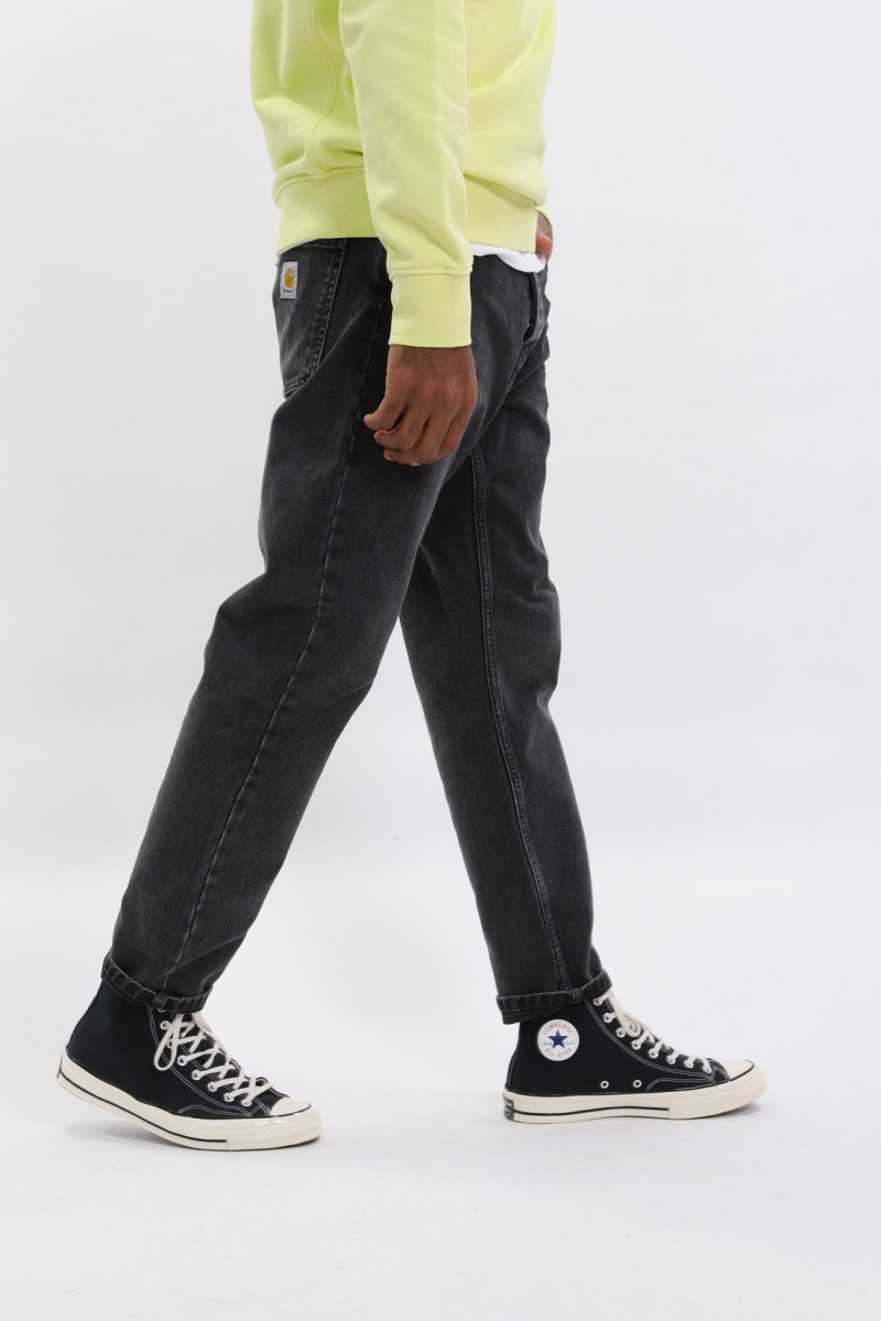 Newel pant cotton black Rock washed