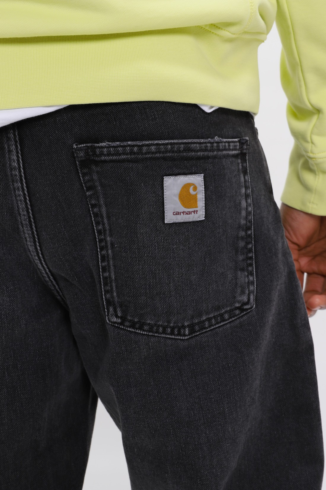 CARHARTT WIP / Newel pant cotton black Rock washed