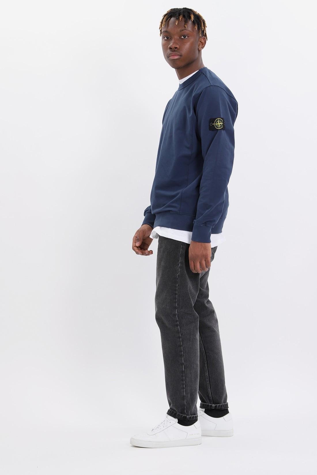 2de10c10a827 Stone island 61452 sweat shirt v0028 Bleu marine - GRADUATE STORE