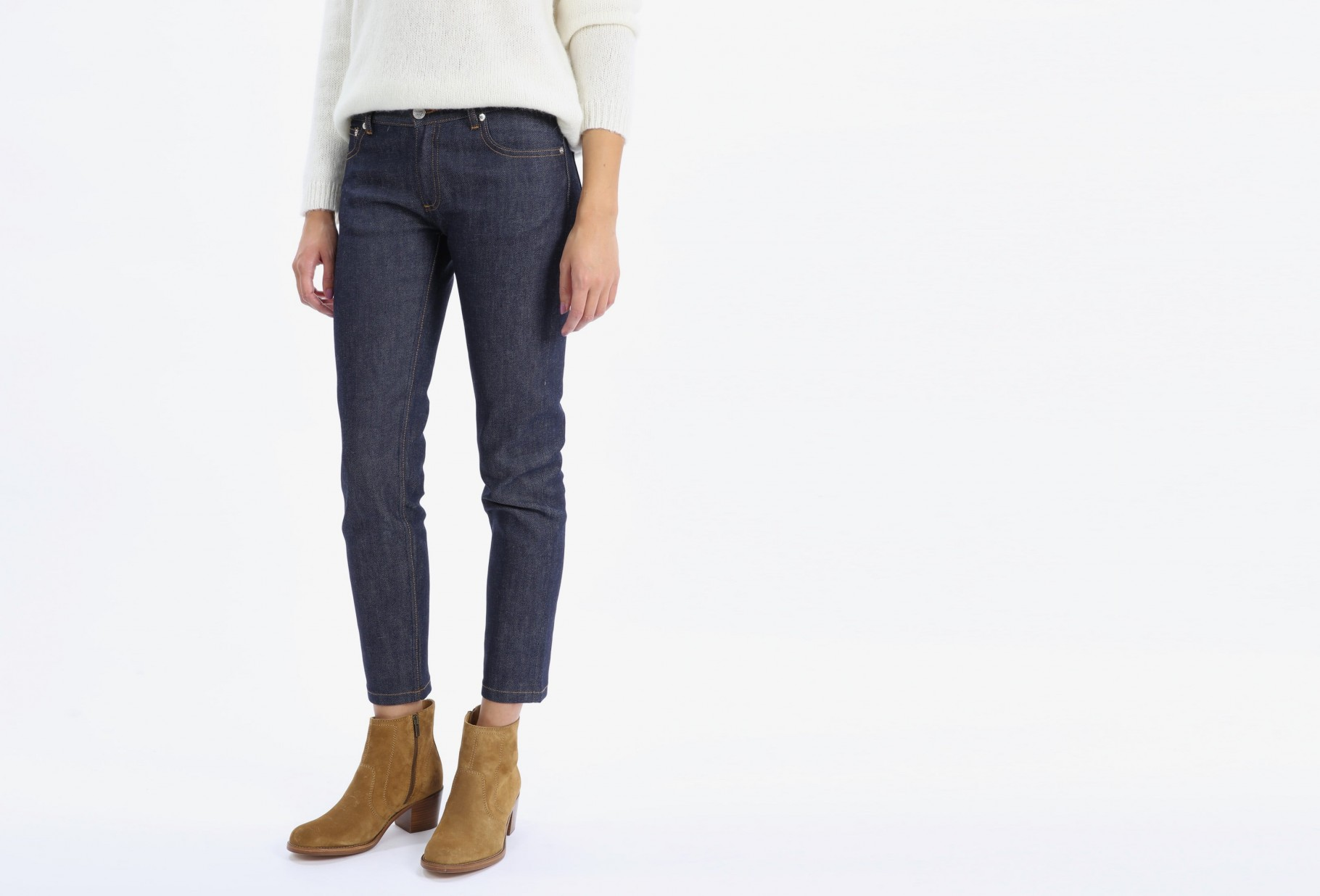 A.P.C. FOR WOMAN / Jean etroit court Indigo