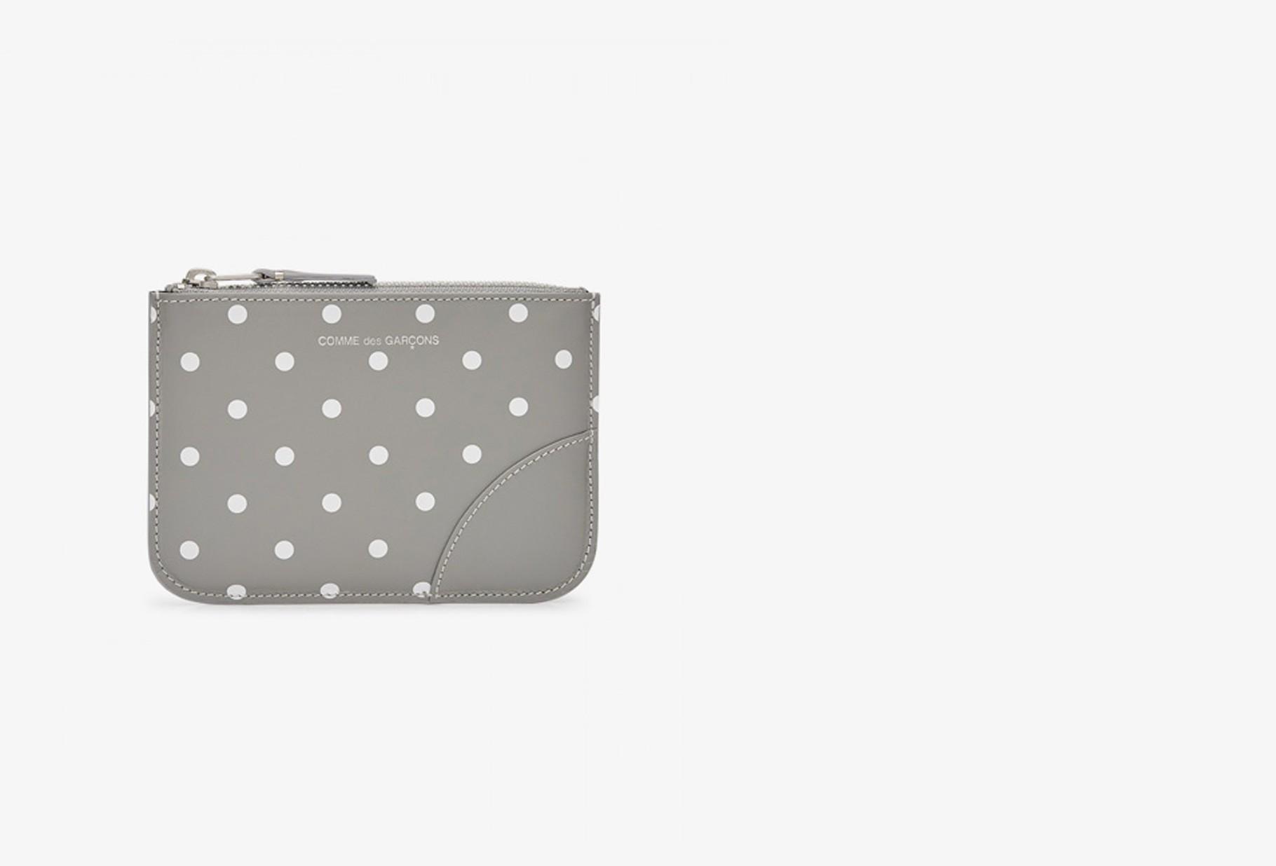 CDG WALLETS FOR WOMAN / Cdg dot leather sa8100 Grey