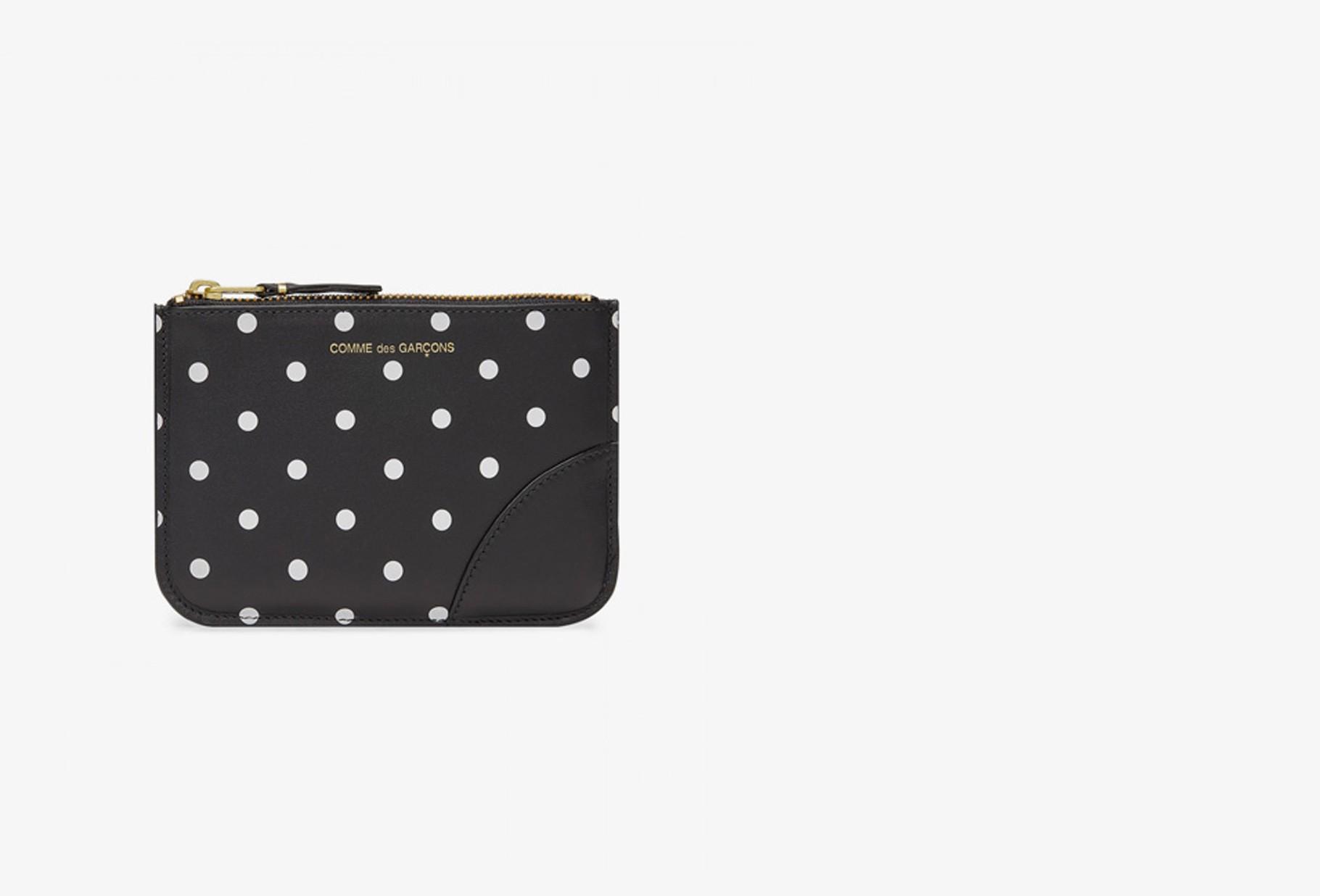 CDG WALLETS FOR WOMAN / Cdg dot leather sa8100 Black