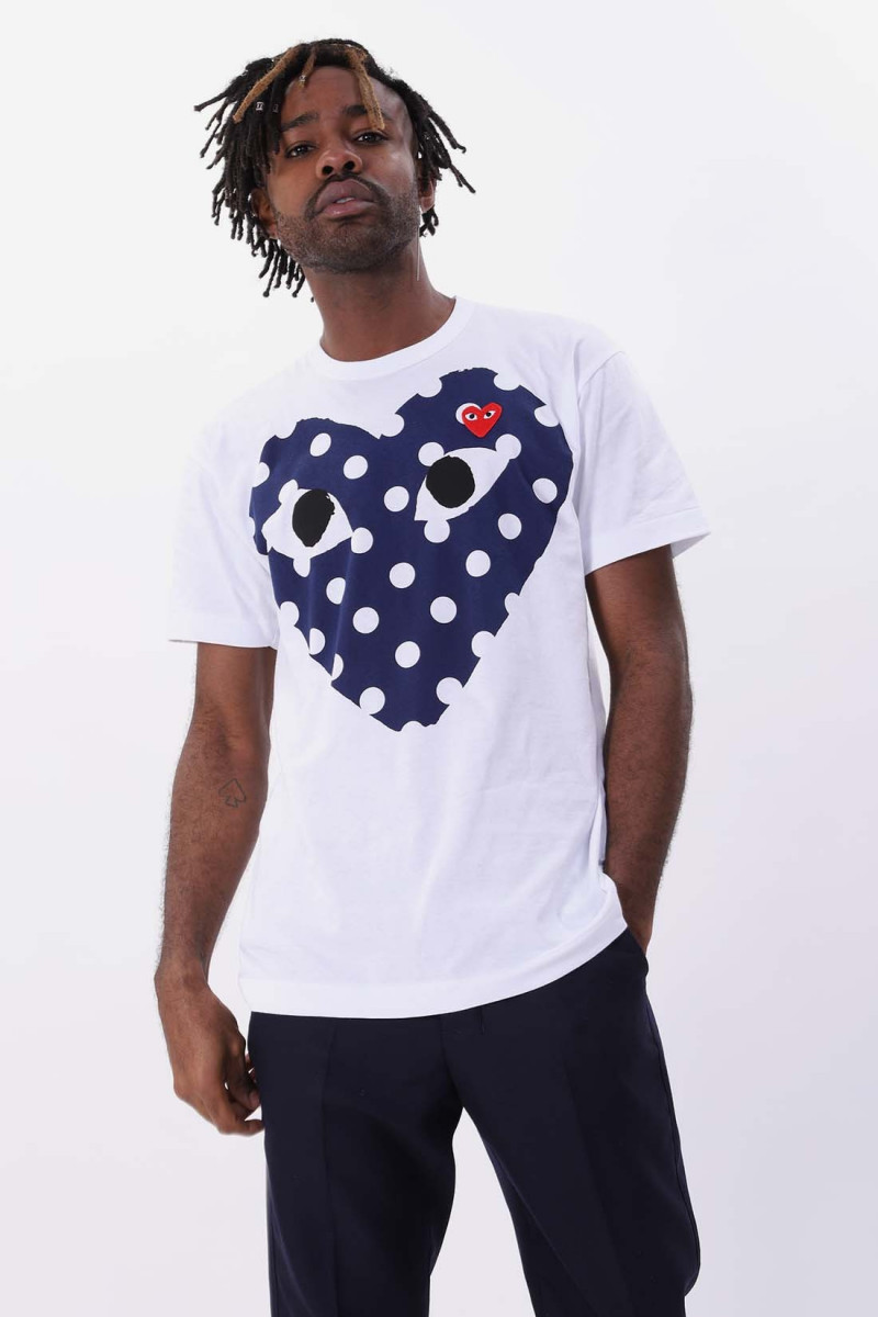 Play polka dot big heart White