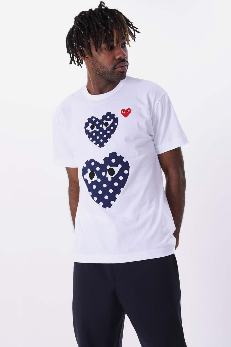 Play double heart polka dot White