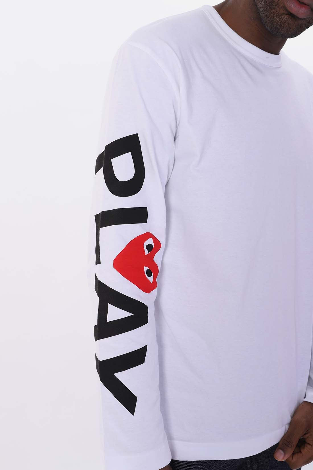COMME DES GARÇONS PLAY / Play big heart long sleeve White