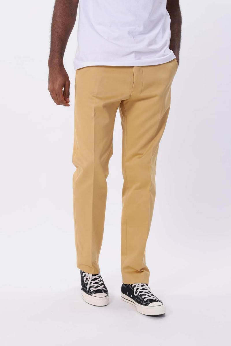 Pantalon droit Ocre