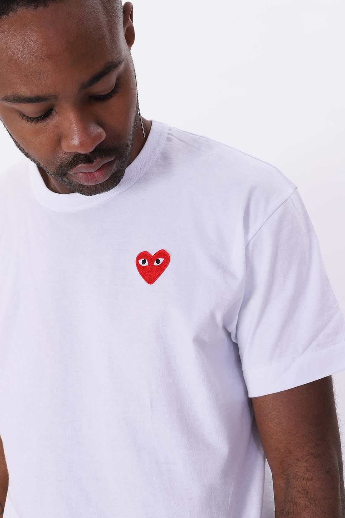 COMME DES GARÇONS PLAY / Red play t-shirt White