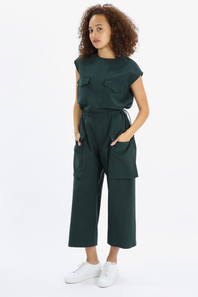 Contoured jumpsuit Green