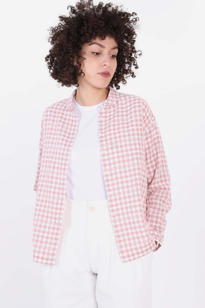 Marianne check shirt Pink