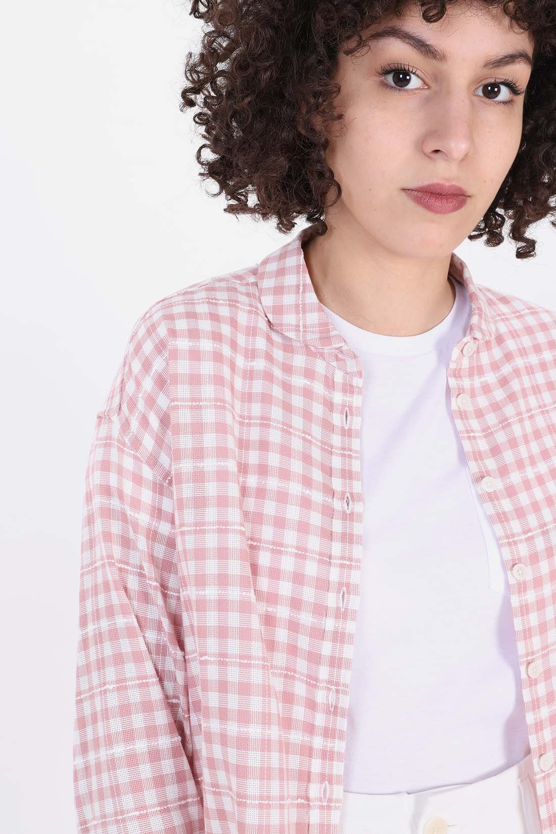 YMC FOR WOMAN / Marianne check shirt Pink