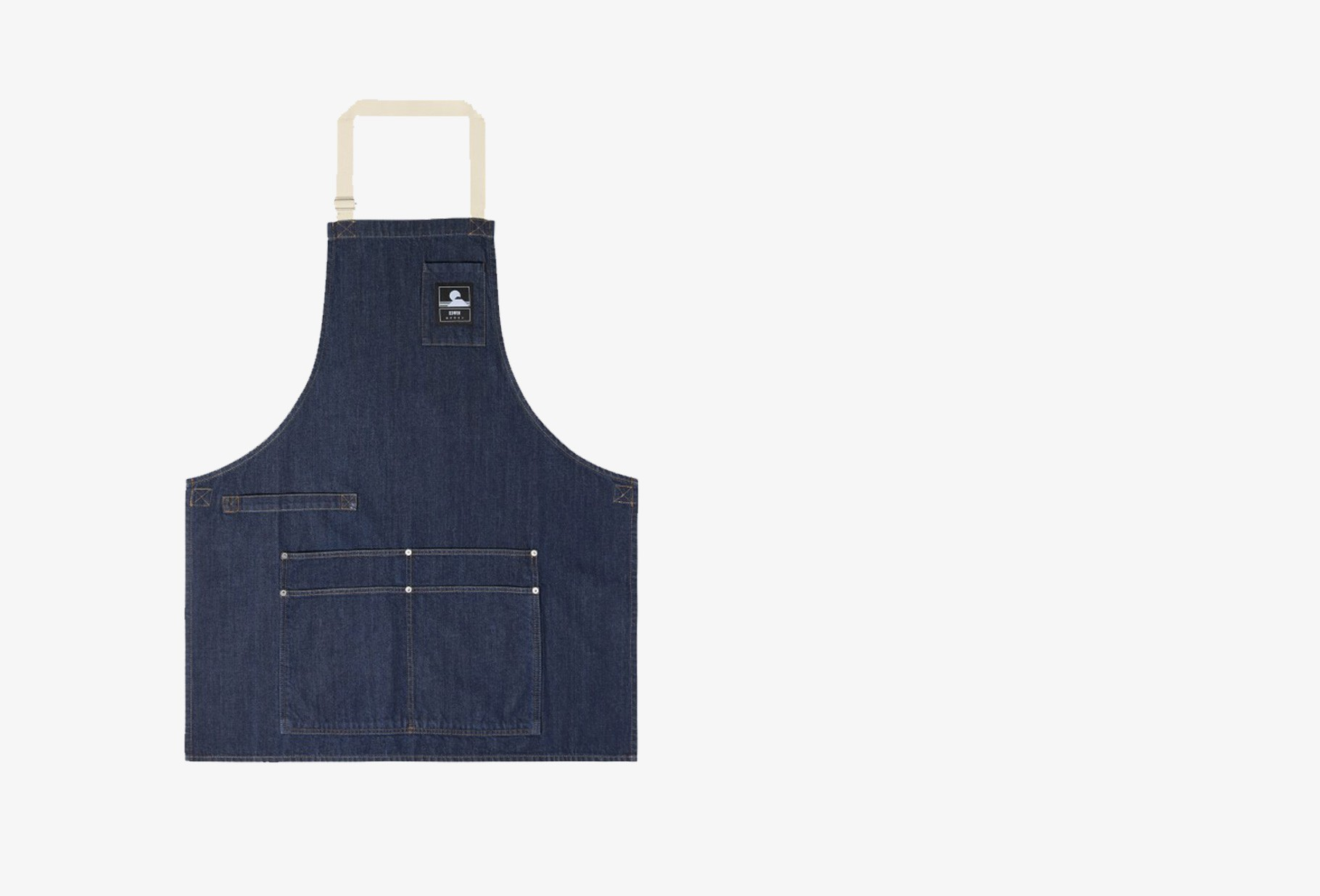EDWIN / Louie apron deep Blue denim