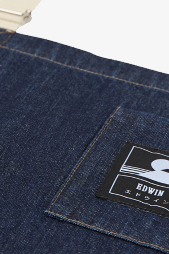 EDWIN / Louie apron deep Blue denim