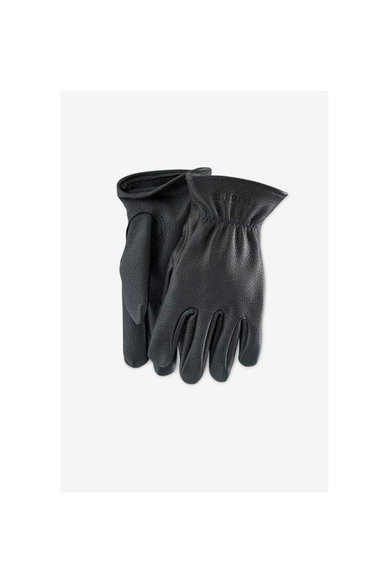 Buckskin leather lined glove Style n.95232 black