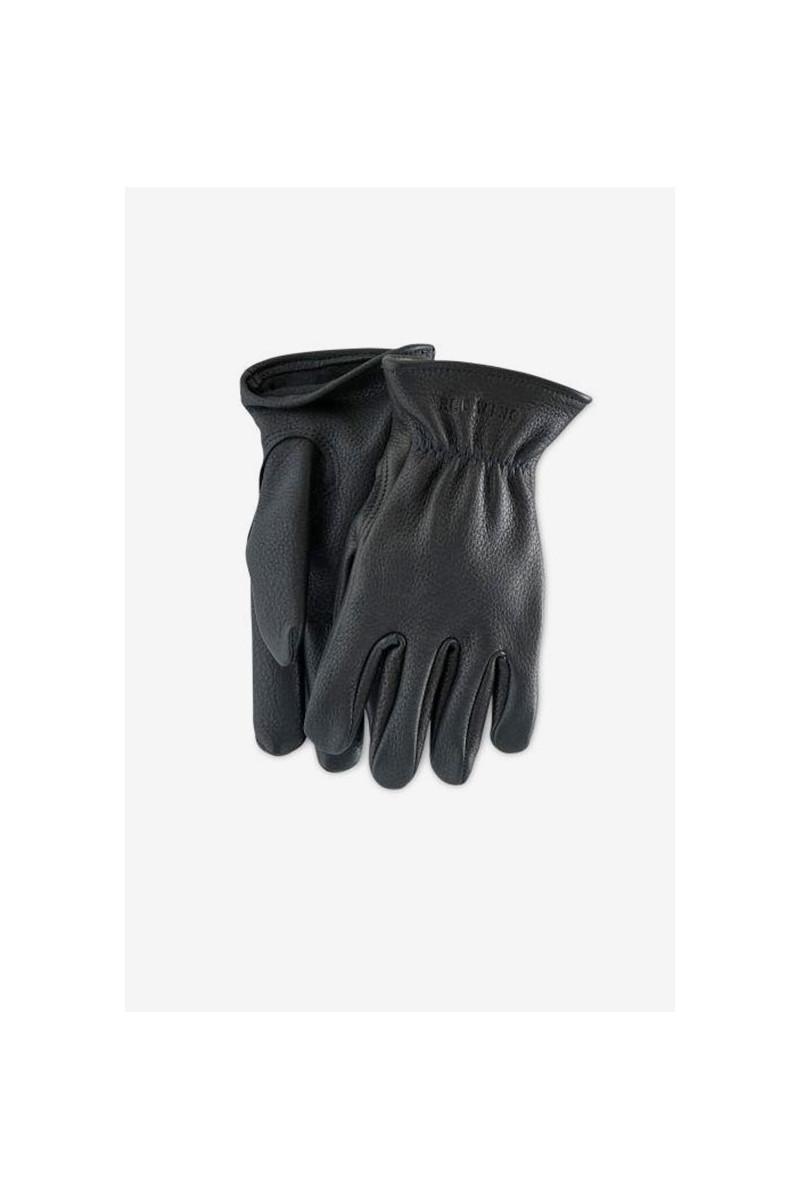 Buckskin leather lined glove Style n.95232 black