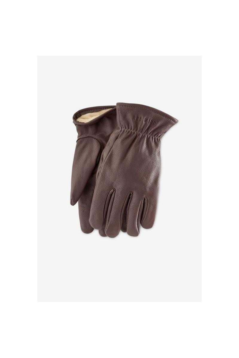 Buckskin leather lined glove Style n.95231 brown