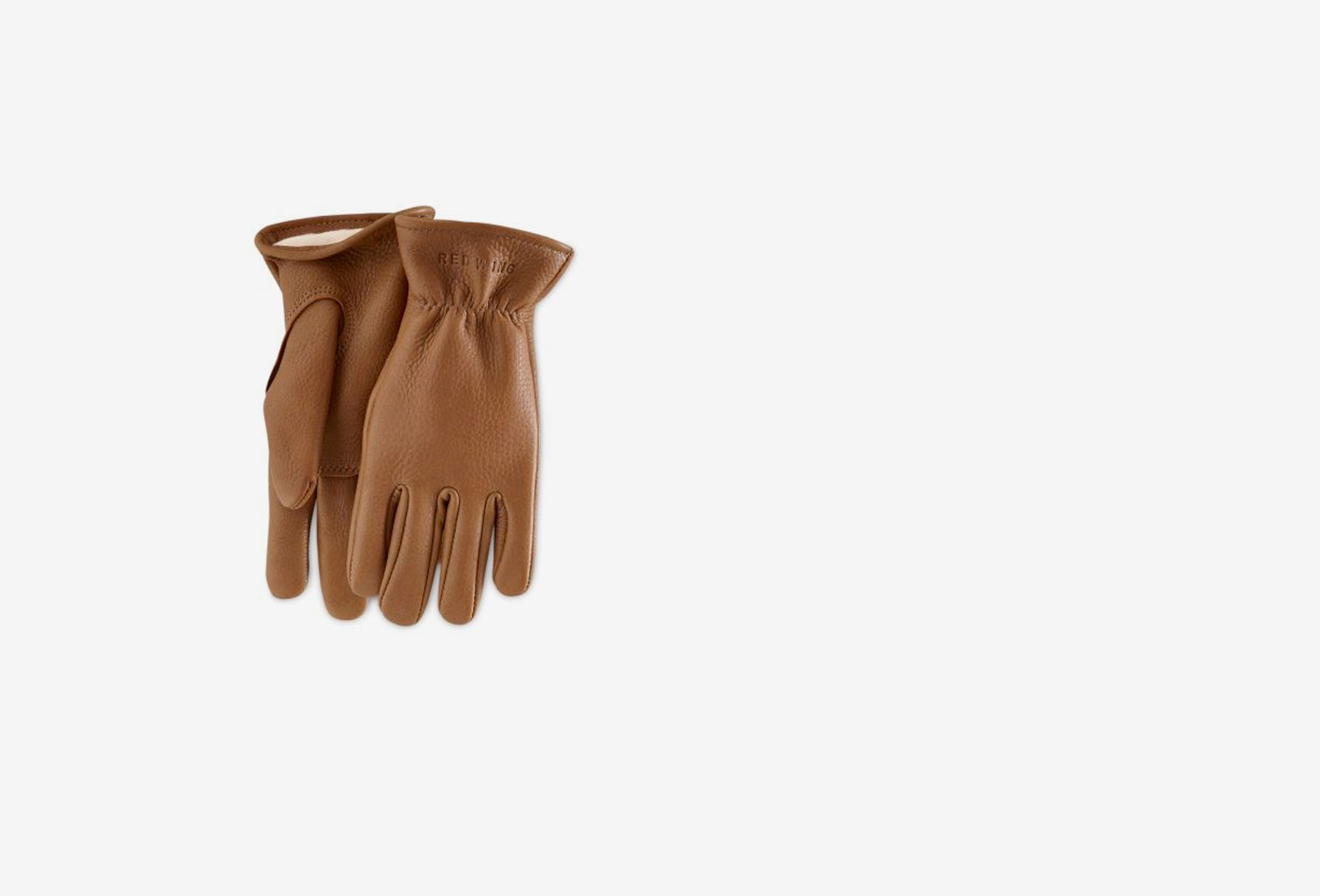 RED WING / Buckskin leather lined glove Style n.95230 nutmeg