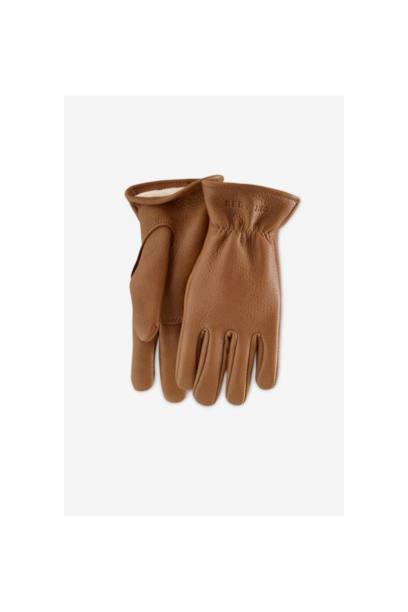 Buckskin leather lined glove Style n.95230 nutmeg