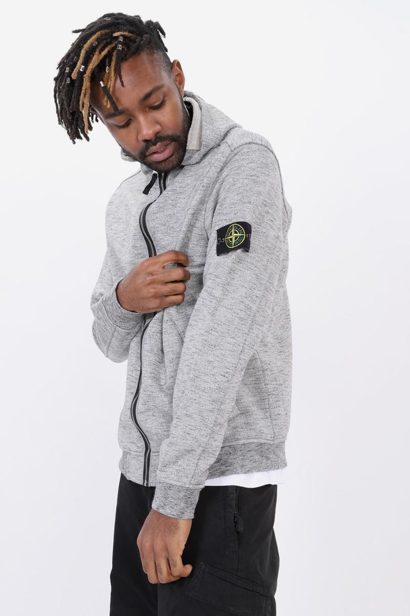 62838 hooded zip jacket v0060 Grigio