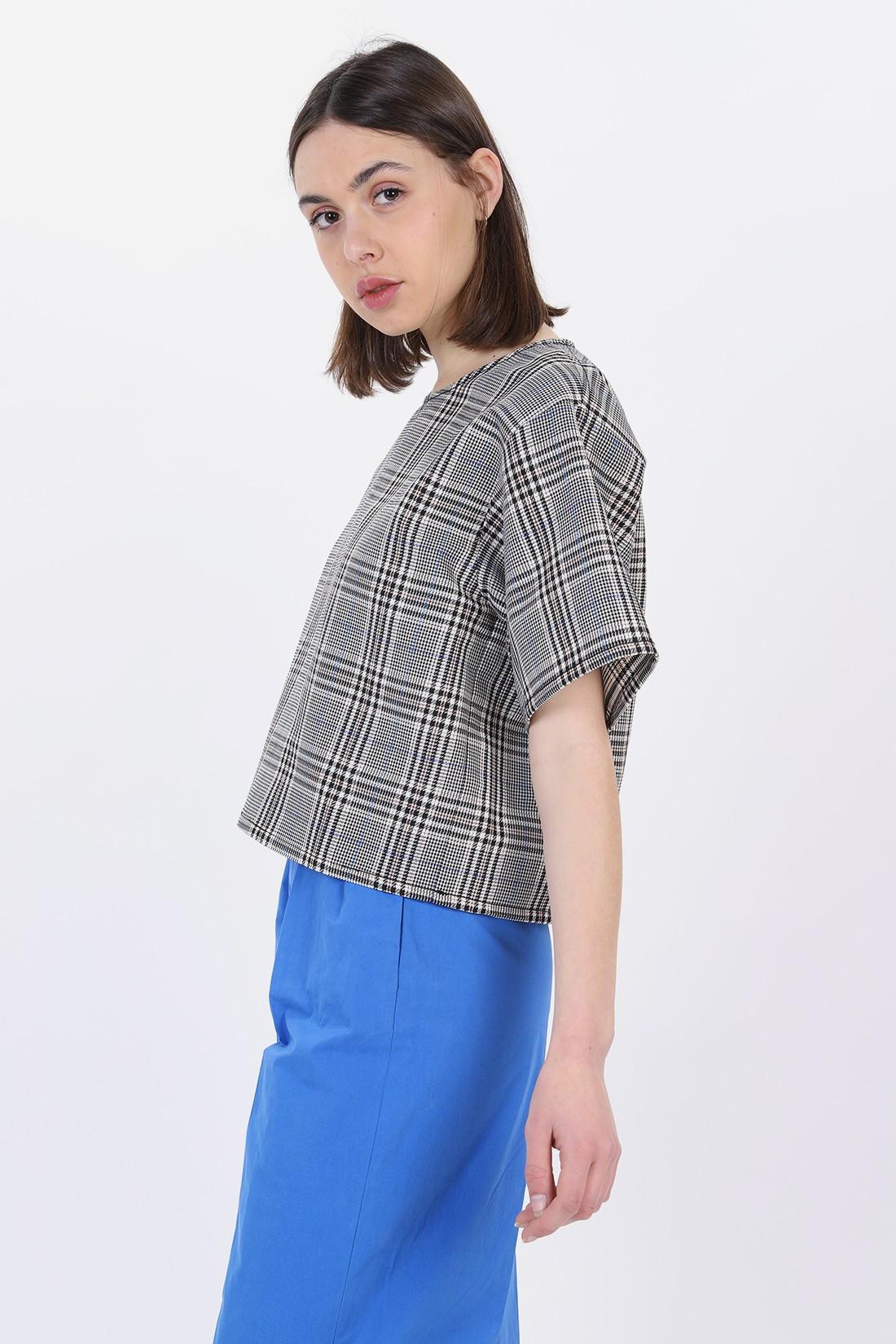 MM6 MAISON MARGIELA FOR WOMAN / Loose fit top White black