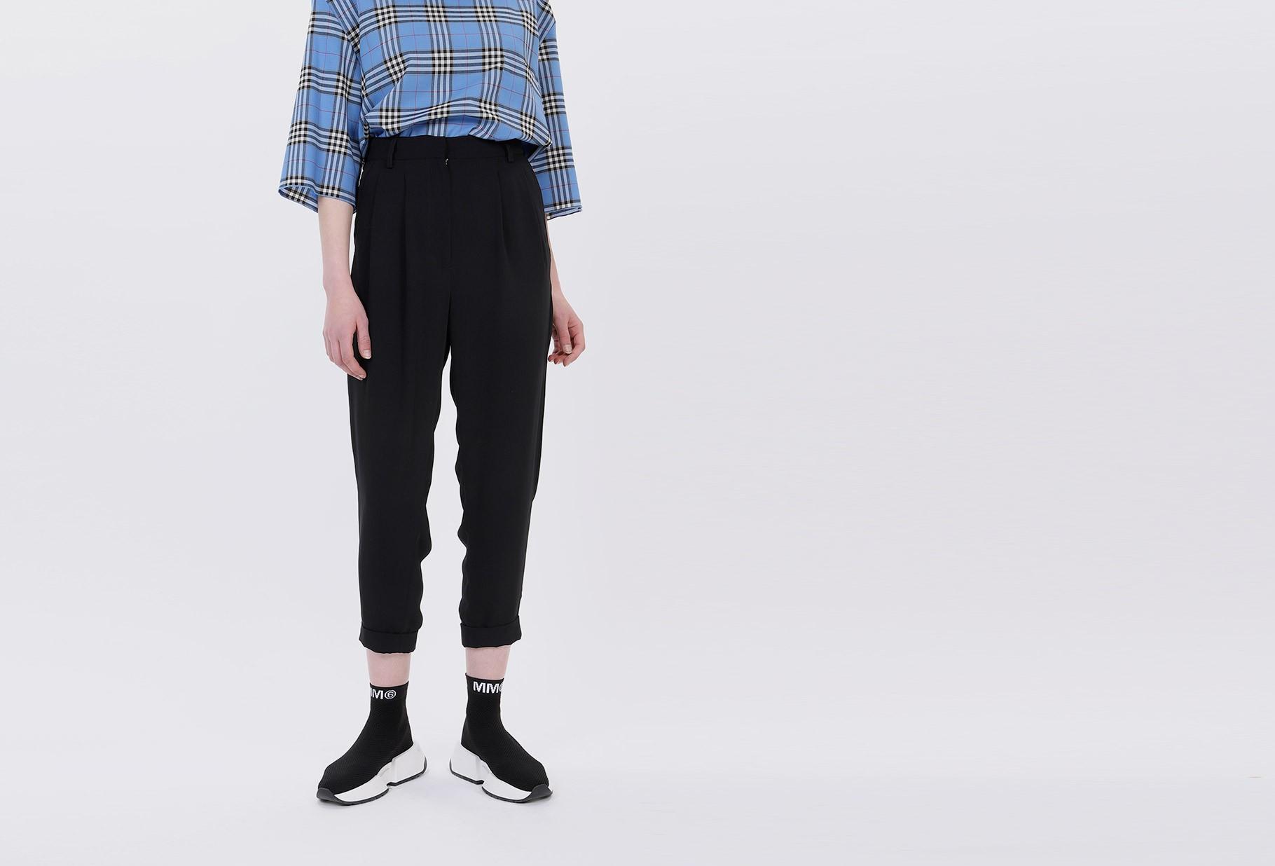 MM6 MAISON MARGIELA FOR WOMAN / Tapered trouser Black