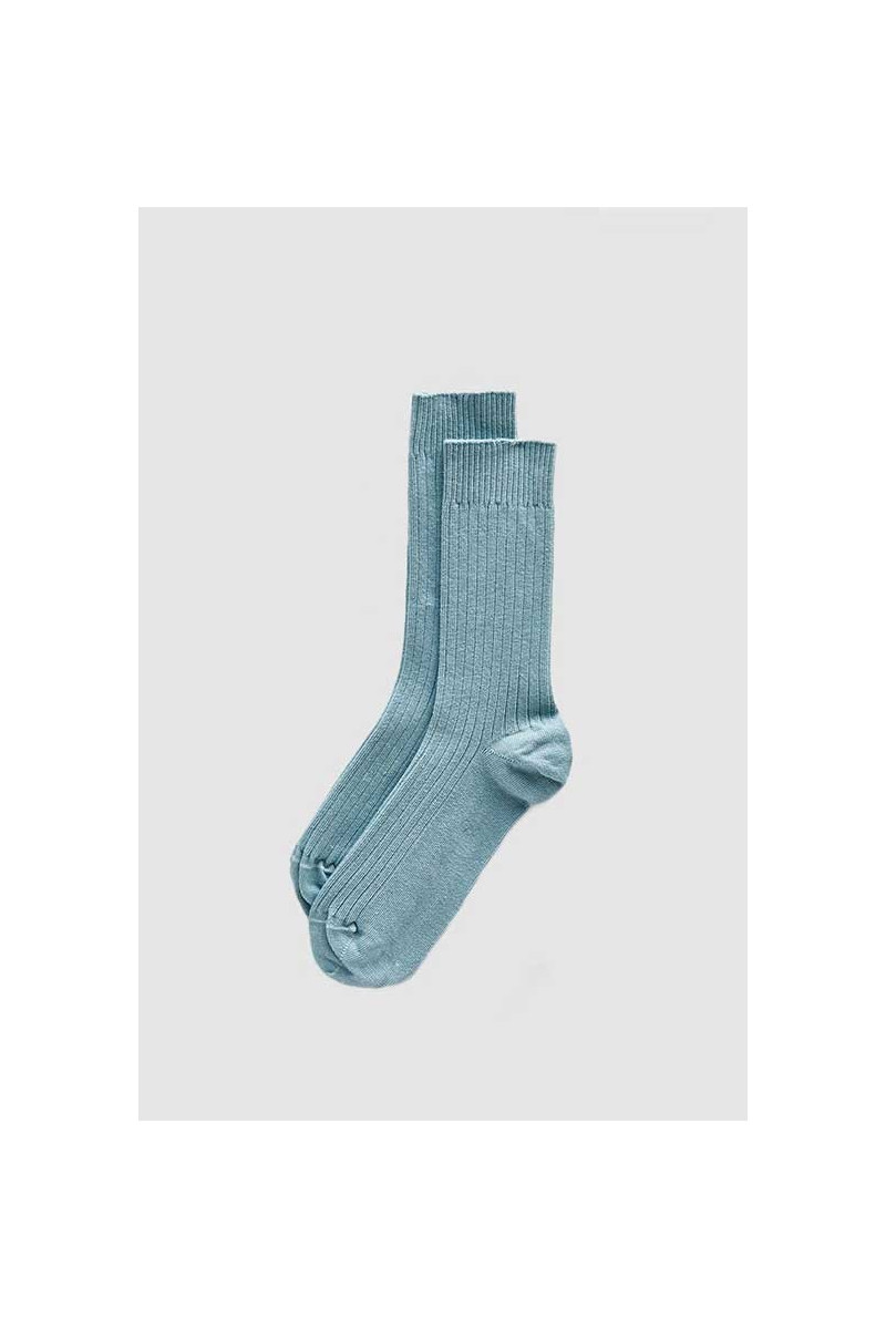 Rib ankle socks Tempory blue