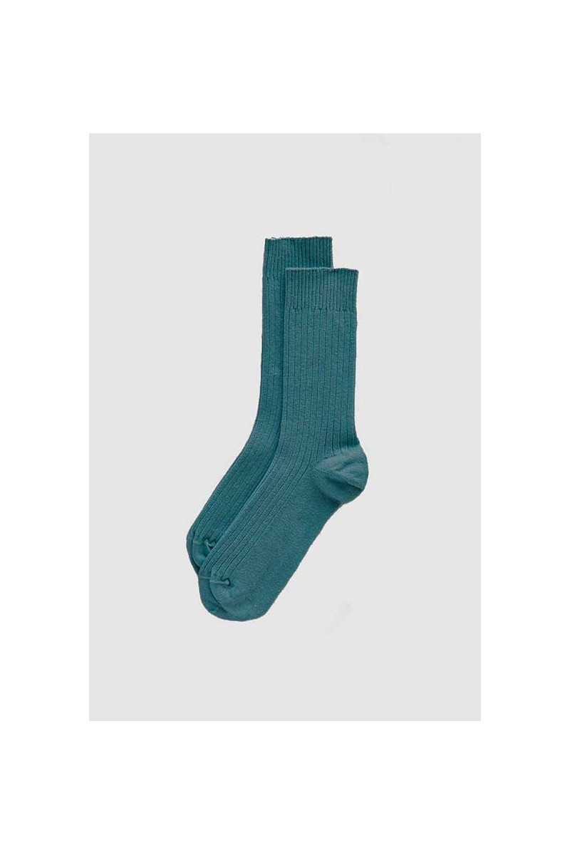 Rib ankle socks Late blue