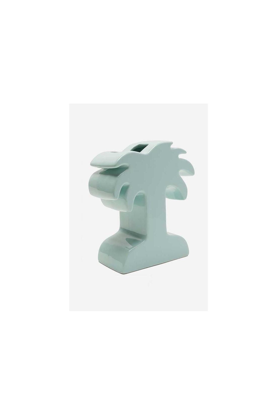 STUSSY / Palm ceramic vase Seafoam