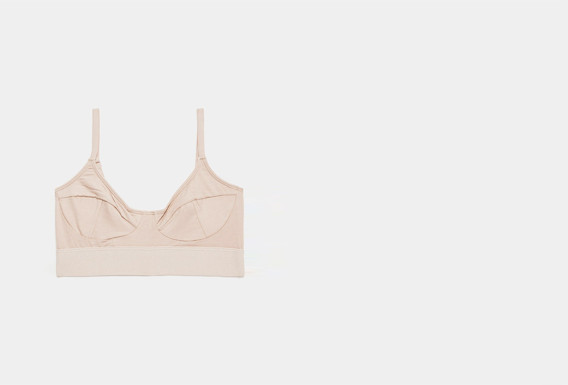 BASERANGE FOR WOMAN / Soft bra Nude