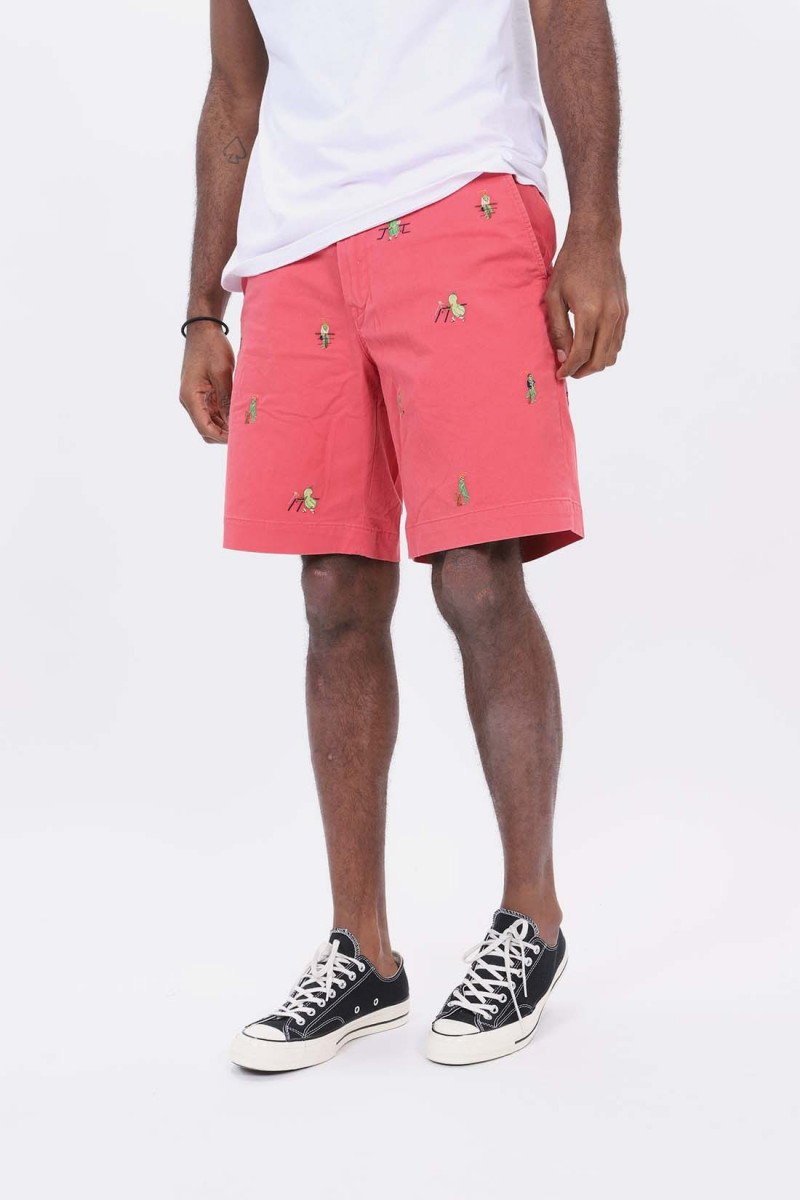 Chino relaxed fit short Red