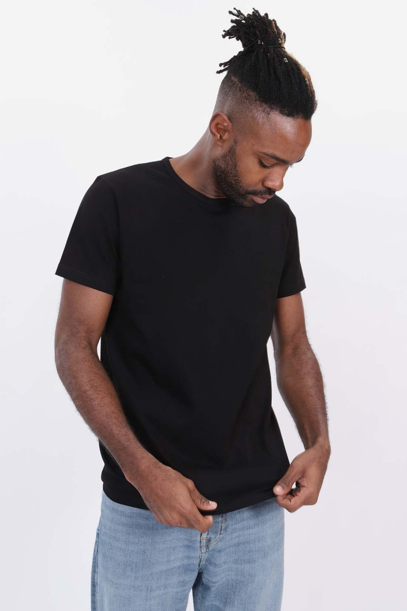 Double pack ss tee Black