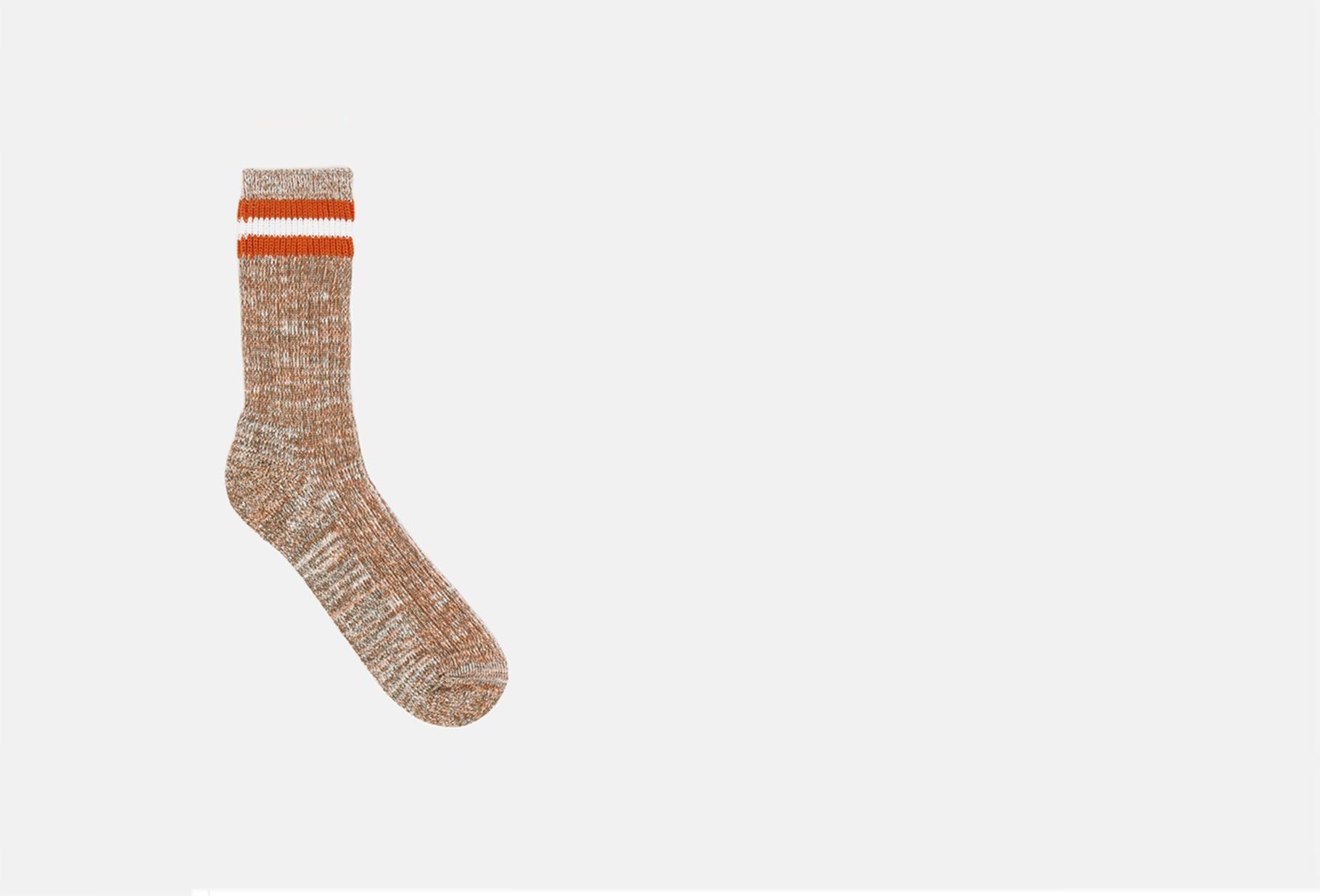 UNIVERSAL WORKS / Everyday stripe sock Orange
