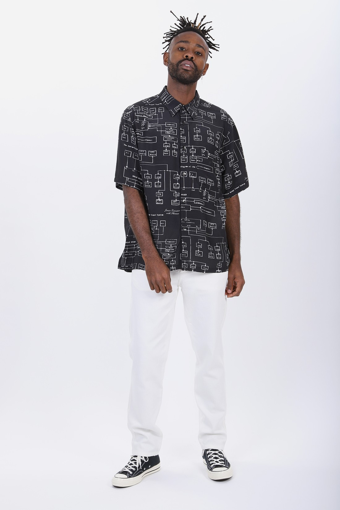 PLEASURE / Sound system shirt Black