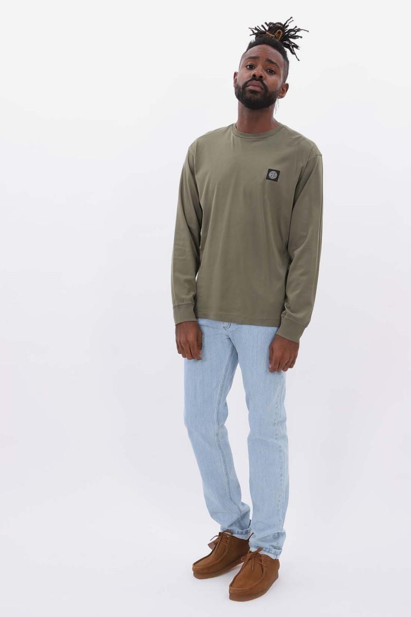 22713 ls t shirt v0058 Verde oliva