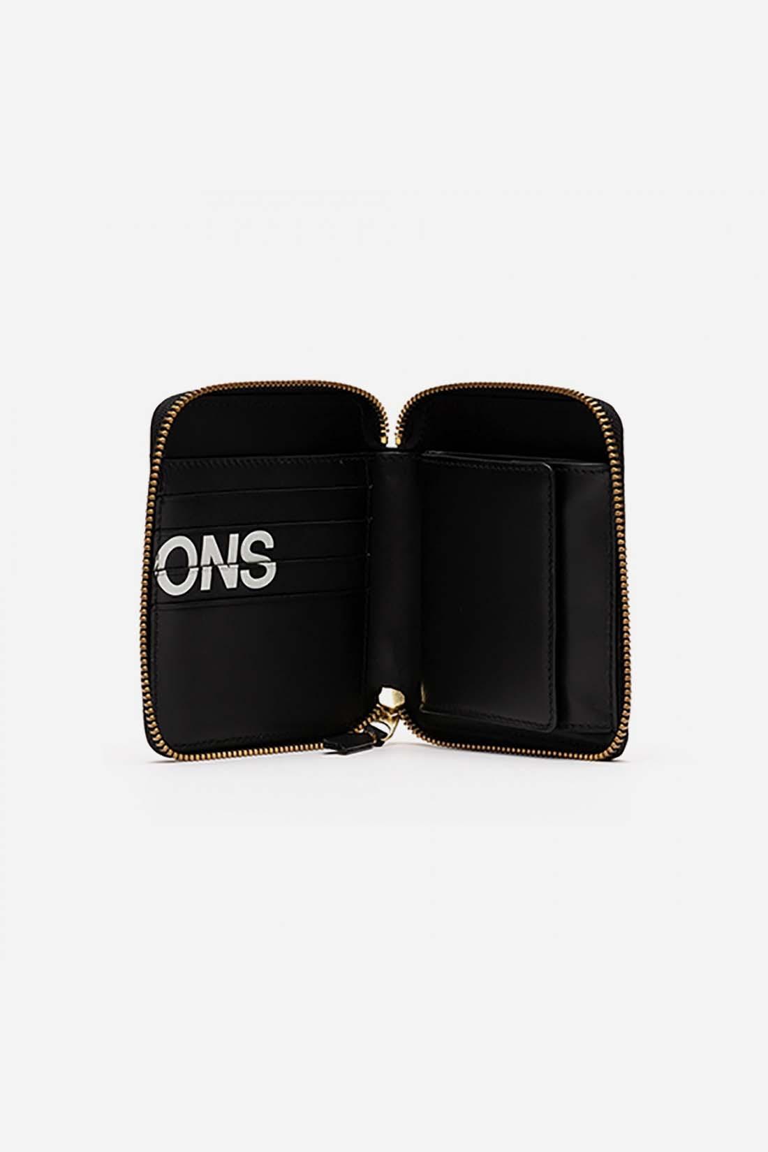 CDG WALLETS / Cdg huge logo wallet sa2100hl Black