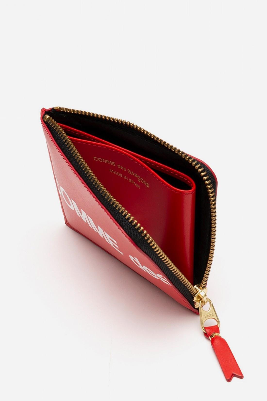 CDG WALLETS / Cdg huge logo wallet sa3100hl Red