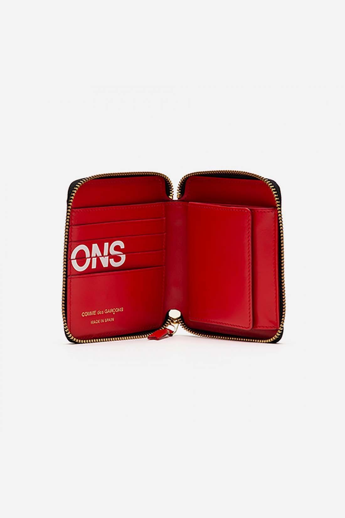 CDG WALLETS / Cdg huge logo wallet sa2100hl Red