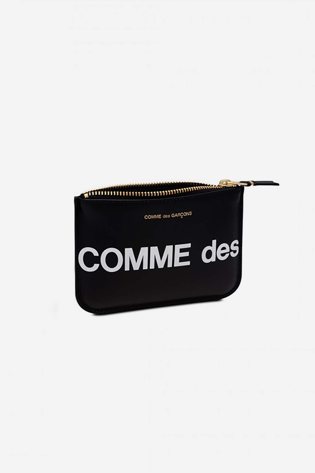 CDG WALLETS / Cdg huge logo wallet sa8100hl Black