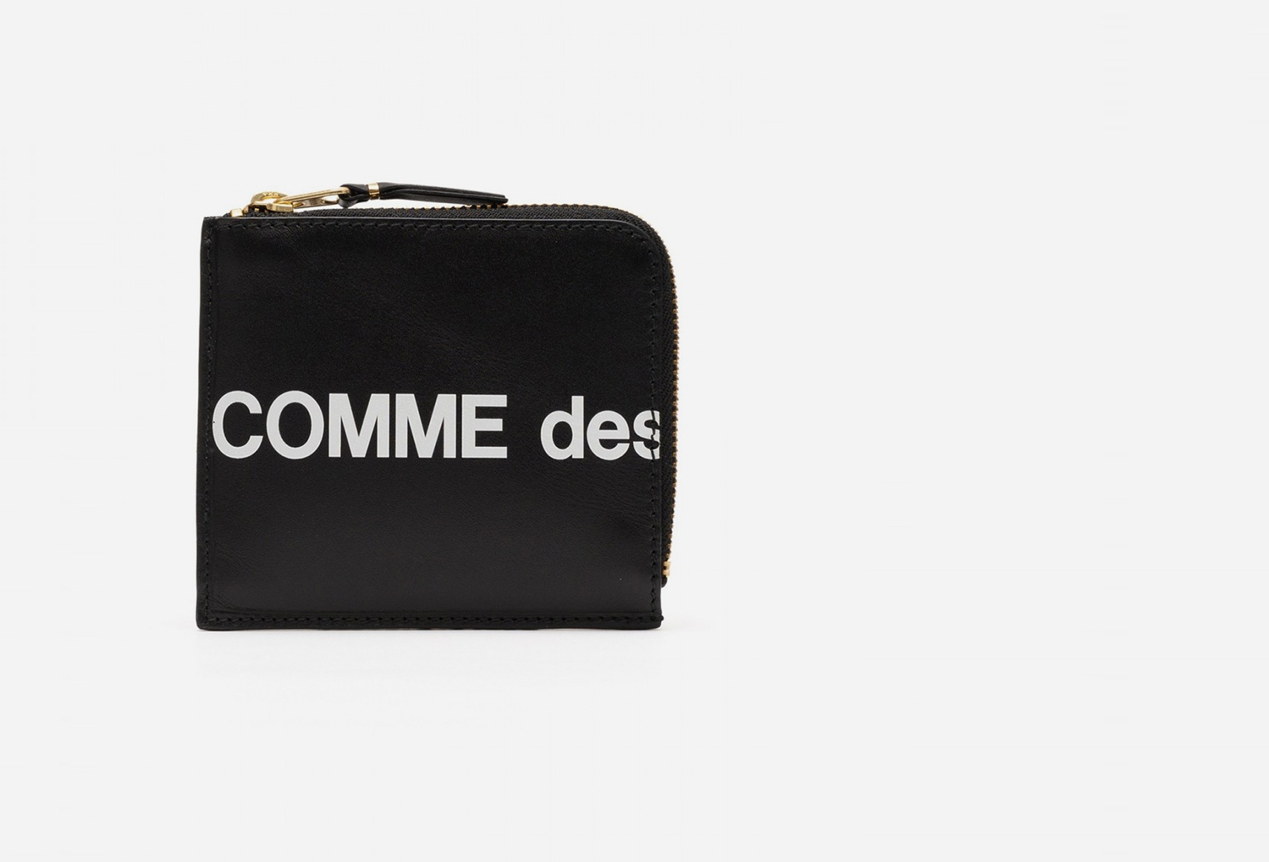 CDG WALLETS / Cdg huge logo wallet sa3100hl Black