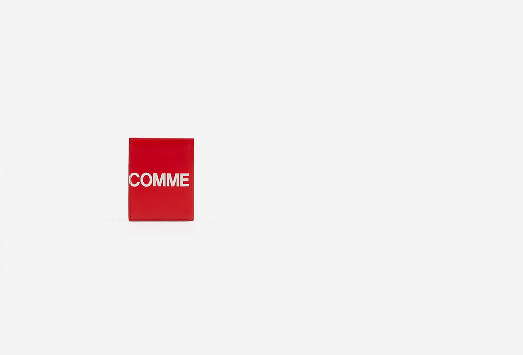 CDG WALLETS / Cdg huge logo wallet sa0641hl Red