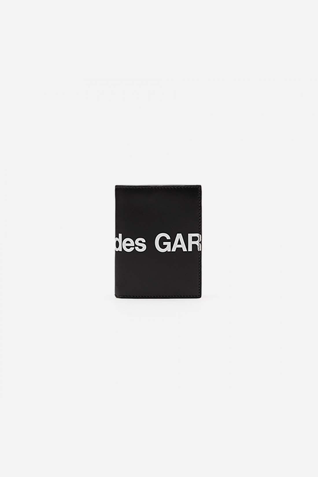 CDG WALLETS / Cdg huge logo wallet sa0641hl Black