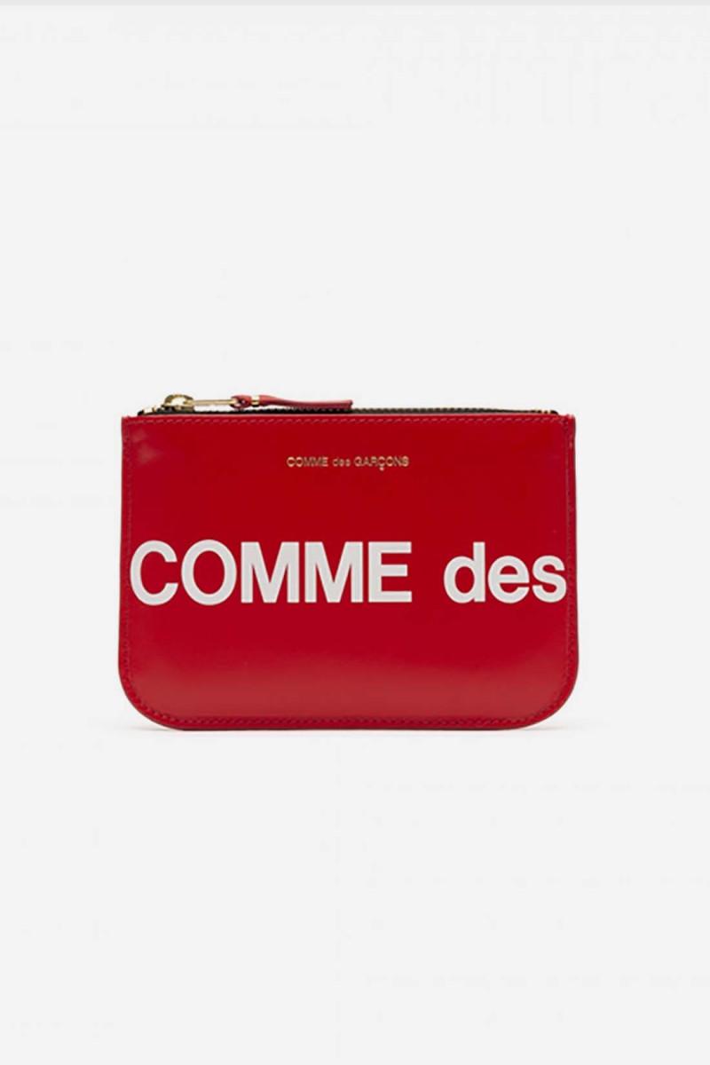 Cdg huge logo wallet sa8100hl Red