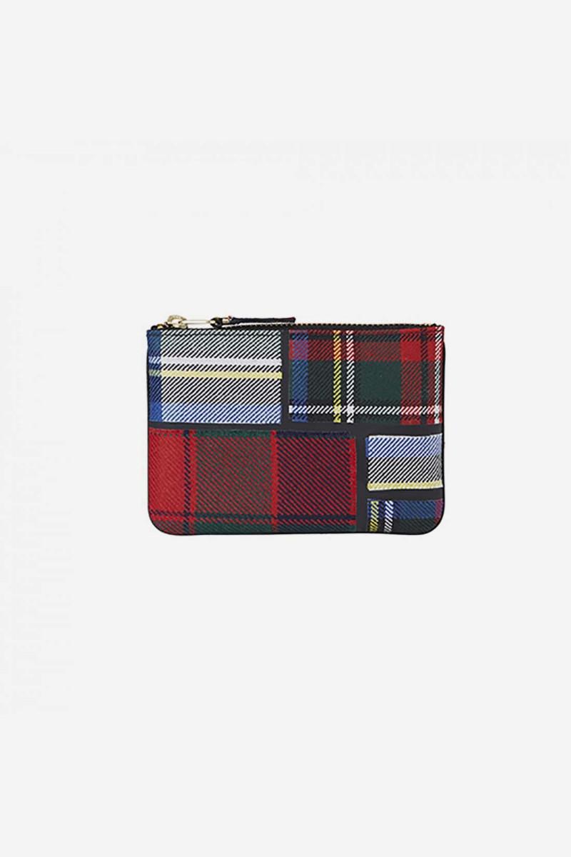 Cdg tartan patchwork sa8100tp Red