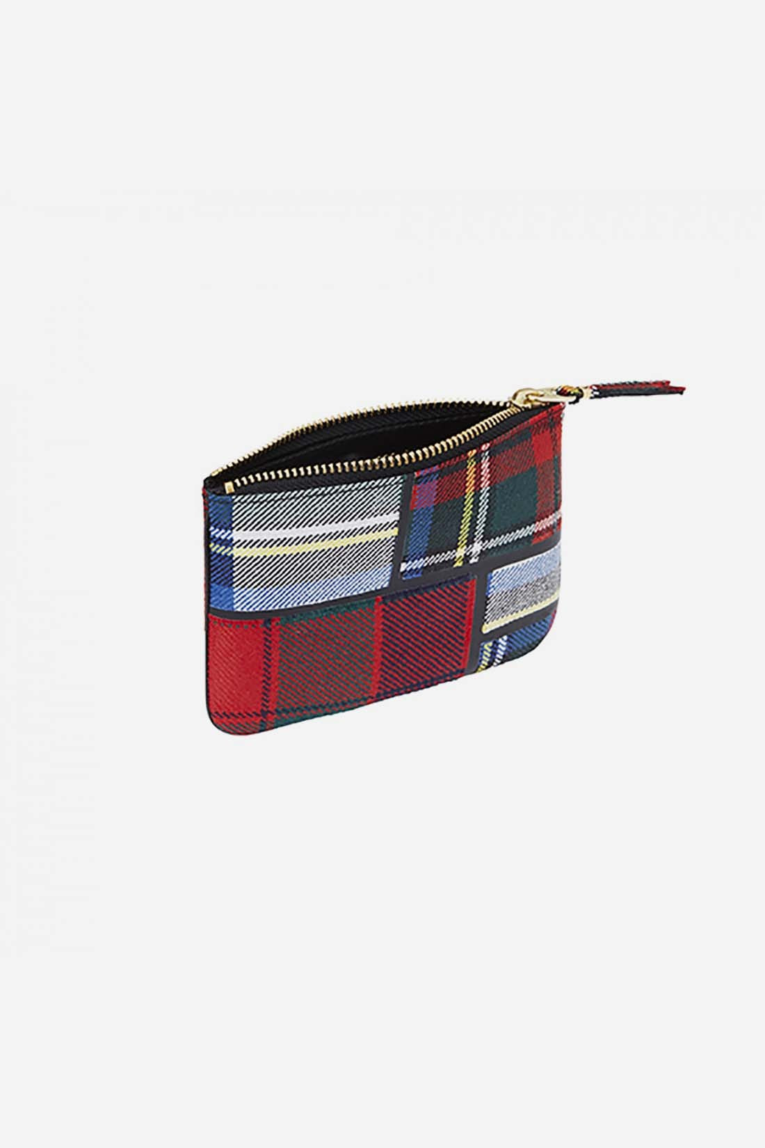 CDG WALLETS / Cdg tartan patchwork sa8100tp Red