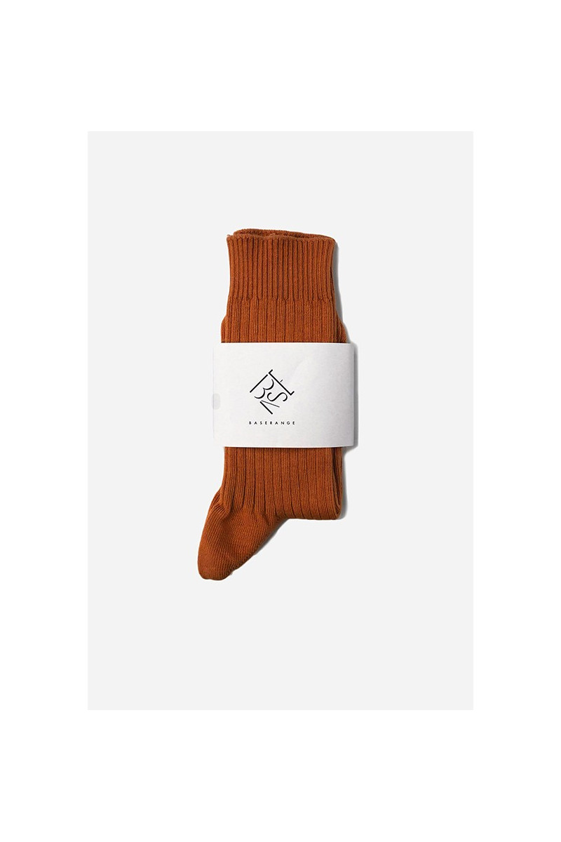 Rib ankle socks Furano brown