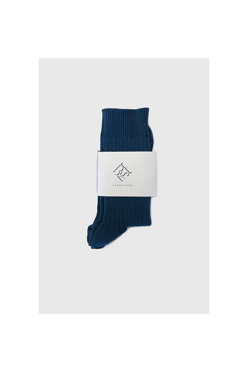 Rib ankle socks Navy blue