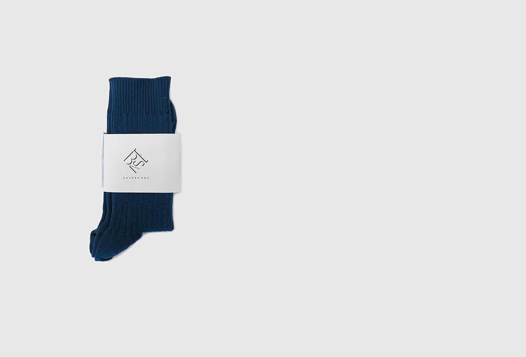 BASERANGE FOR WOMAN / Rib ankle socks Navy blue