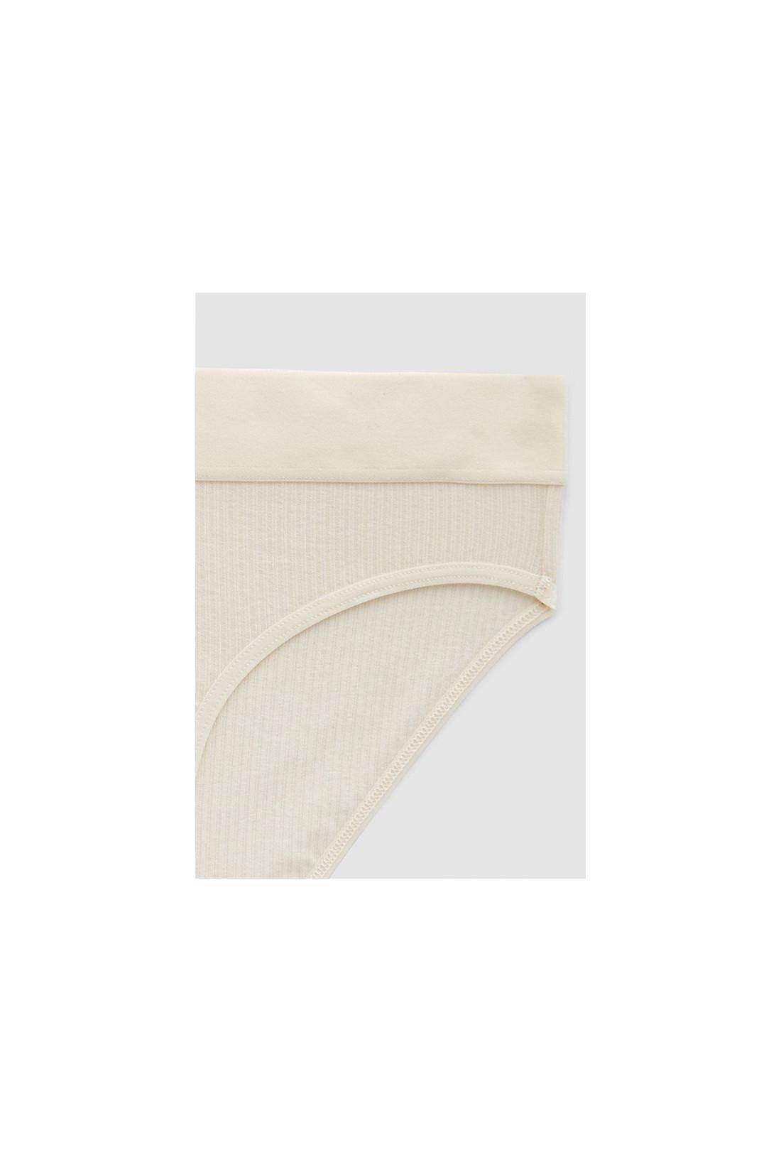 BASERANGE / Elastic bell pants Off white
