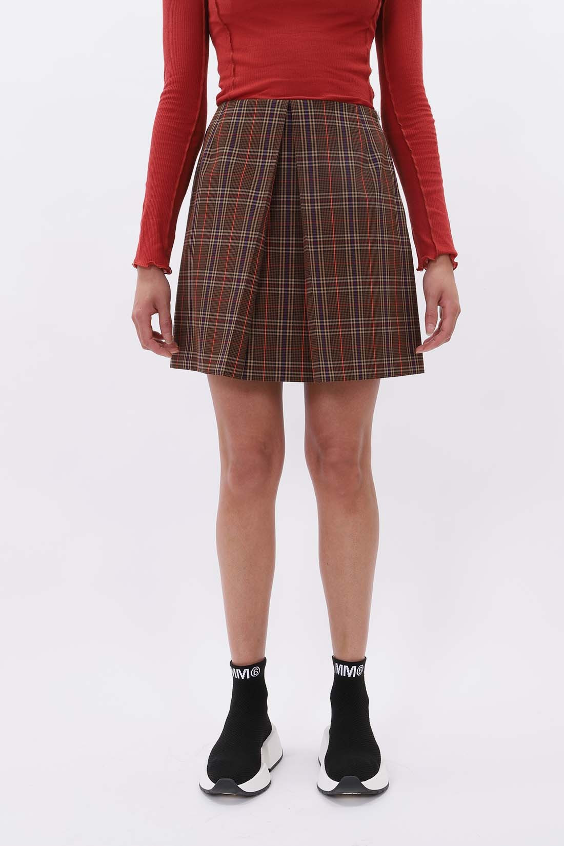 MM6 MAISON MARGIELA / Tartan skirt Brown
