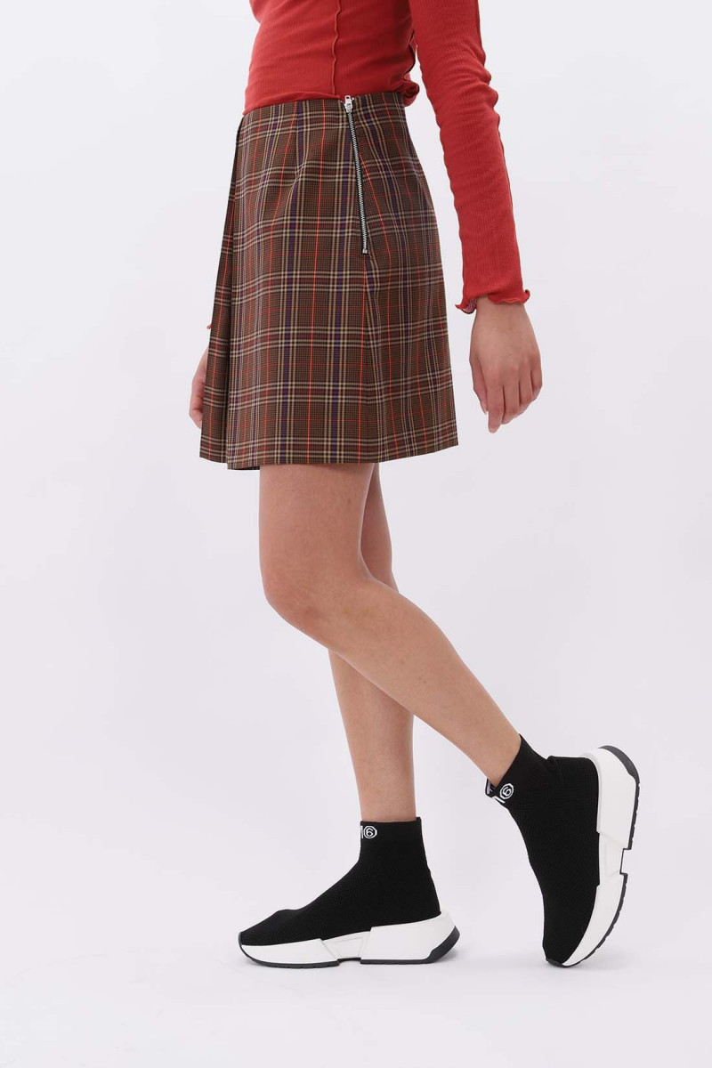Tartan skirt Brown